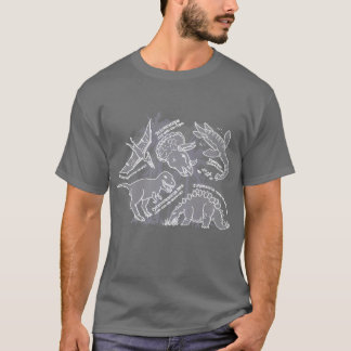Dinosaur how do you say grey t-shirt