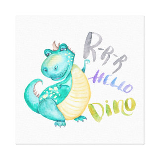 Dinosaur Illustration Canvas Print