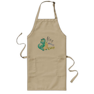 Dinosaur Illustration Long Apron