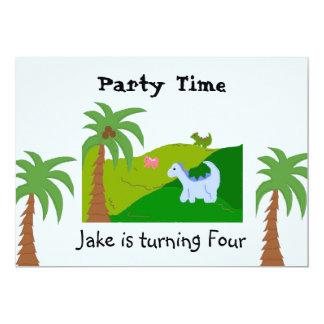 Dinosaur Land Birthday Party Invitation