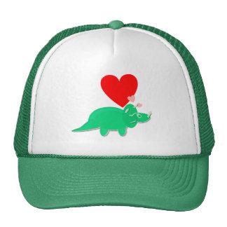 Dinosaur Love Heart Triceratops Cap