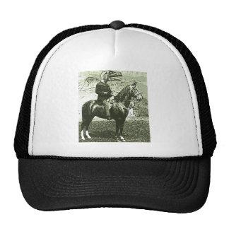 dinosaur man rides hat