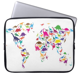 Dinosaur Map of the World Map Computer Sleeve