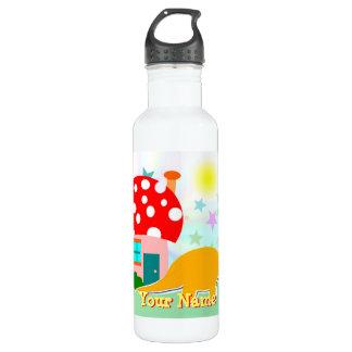 Dinosaur Mushroom House Bottle