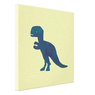 Dinosaur Navy Blue Green Wall Art Canvas