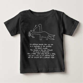 < Dinosaur now former times (effective sound it is Baby T-Shirt
