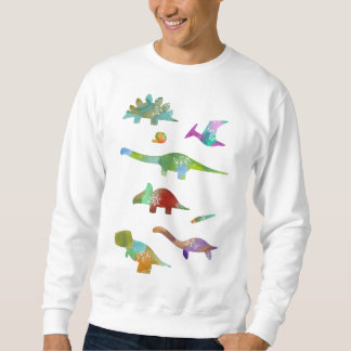 < Dinosaur old living thing (water color) Sweatshirt