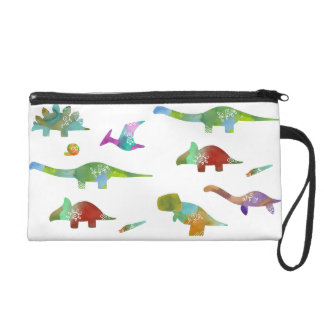 < Dinosaur old living thing (water color) Wristlet