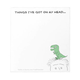 Dinosaur on My Head! Notepad