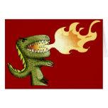 Dinosaur or Dragon kids art with Loston Wallace Greeting Card