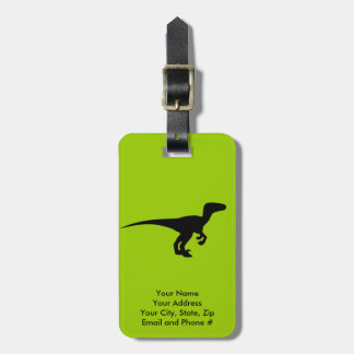 Dinosaur Outline Jurassic Era Luggage Tag