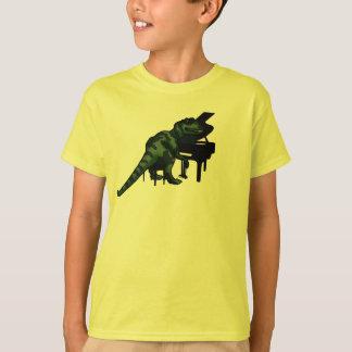 Dinosaur Pianist T-Shirt