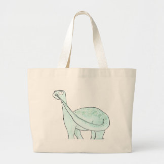 Dinosaur Picking His Nose Large Tote Bag