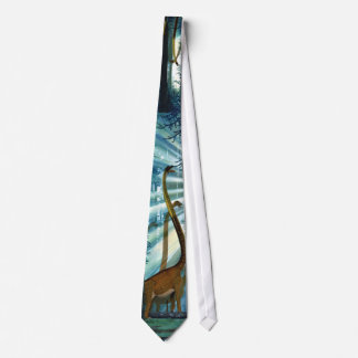 Dinosaur Pictorial Tie Omeisaurus Gregory Paul