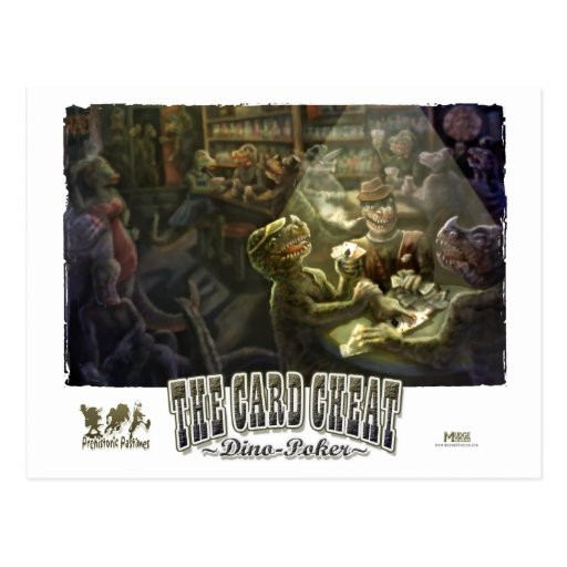Dinosaur Poker Postcards