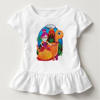 Dinosaur Princess Wearing Glasses Toddler T-Shirt