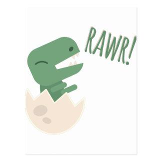 Dinosaur Rawr Postcard