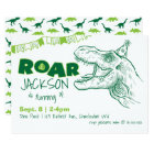 Dinosaur Roar Birthday Invitation