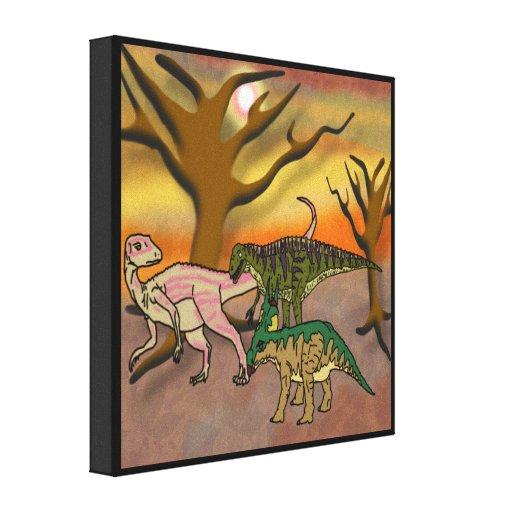 Dinosaur Romp Canvas Prints