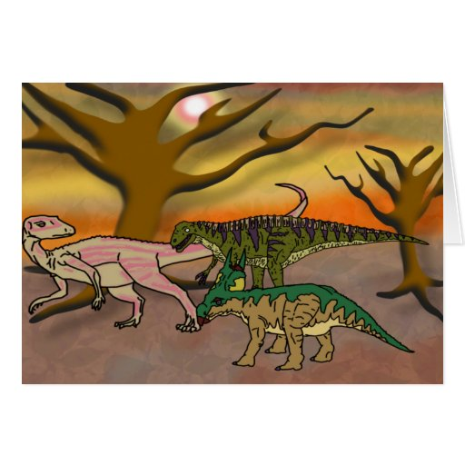 Dinosaur Romp Greeting Card