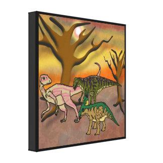 Dinosaur Romp Gallery Wrap Canvas