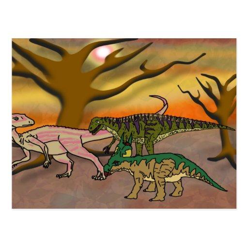 Dinosaur Romp Post Cards