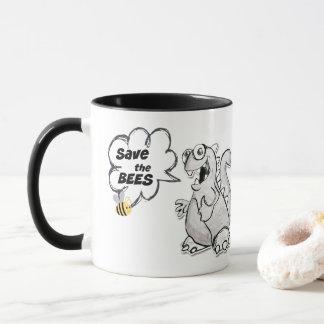 Dinosaur Says Save the Bees Mug