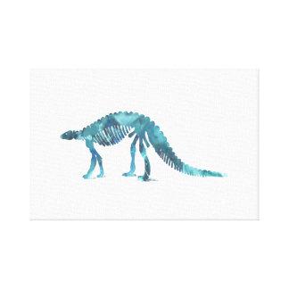 Dinosaur (Scelidosaurus) skeleton Canvas Print