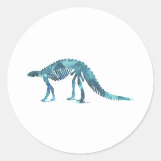 Dinosaur (Scelidosaurus) skeleton Classic Round Sticker