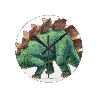 Dinosaur series (Stegosaurus) wall-mounted clock