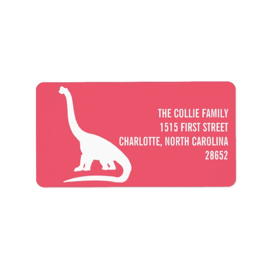 Dinosaur Silhouette Address Label