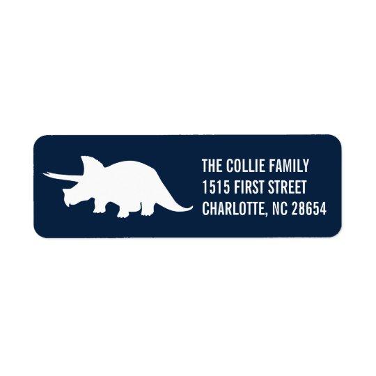 Dinosaur Silhouette Return Address Label