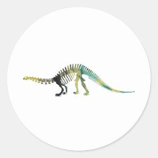 Dinosaur Skeleton Classic Round Sticker