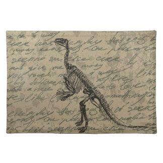 Dinosaur skeleton placemat
