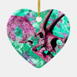 Dinosaur Skull Print Design Ceramic Ornament
