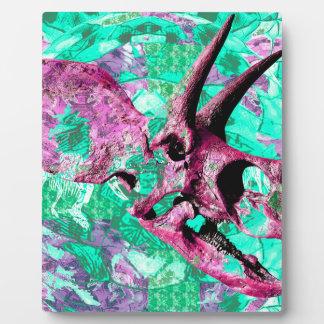 Dinosaur Skull Print Design Plaque