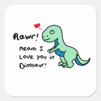 Dinosaur Square Sticker