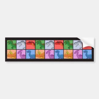 Dinosaur Squares Bumper Sticker