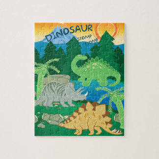 Dinosaur Stomp Stomp Jigsaw Puzzle