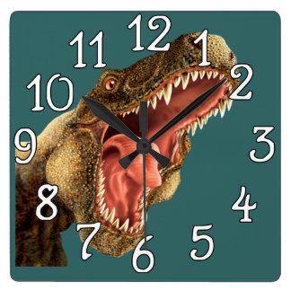 Dinosaur T-Rex Bedroom Playroom Wall Clock