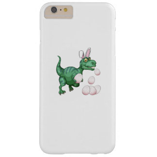 Dinosaur T-Rex Bunny Funny Easter Egg Barely There iPhone 6 Plus Case