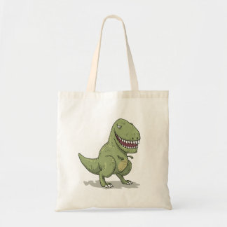 Dinosaur T Rex Cartoon Tote Bag