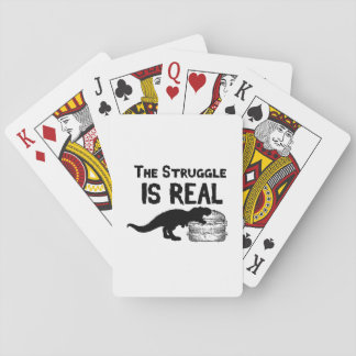 dinosaur T Rex The Struggl Is Real hamburger Funny Playing Cards