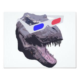 Dinosaur t-shirts 11 cm x 14 cm invitation card