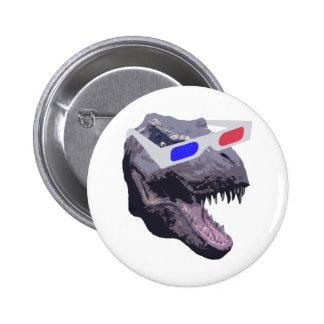 Dinosaur t-shirts 6 cm round badge