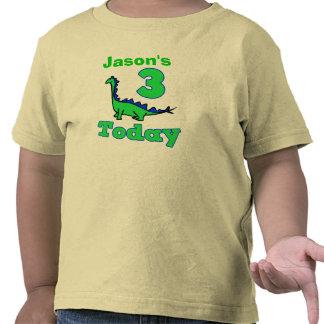 Dinosaur Third Birthday Boy Shirt