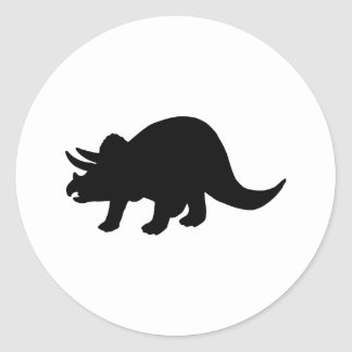 Dinosaur - Triceratops Classic Round Sticker