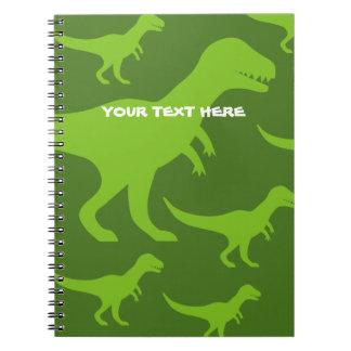 Dinosaur tyrannosaurus rex prehistoric trex custom spiral notebooks