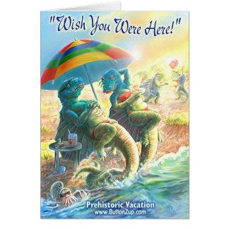 Dinosaur Vacation Card