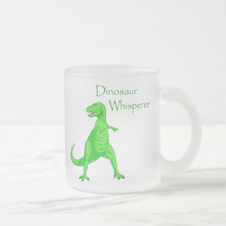 Dinosaur Whisperer Frosted Glass Coffee Mug